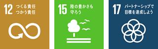 つくる責任つかう責任 緑の豊かさも守ろう パートナーシップで目標を達成しよう